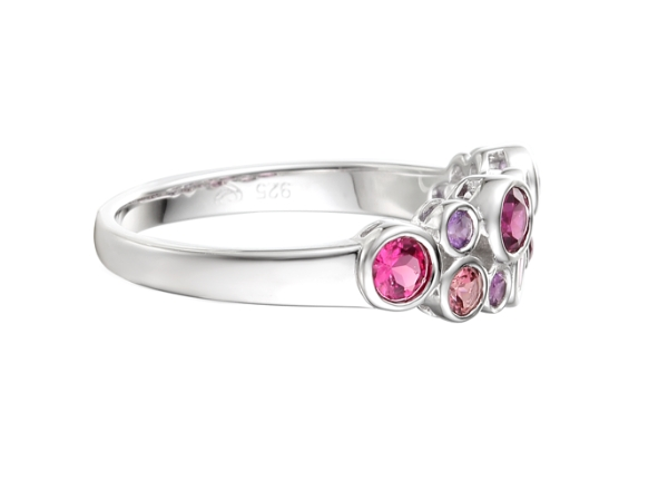 Pink Bubble Ring with Bells